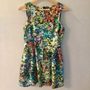Super Fun Floral Skater Dress